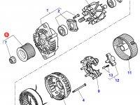Шкив (ролик) ремня генератора двигателя трактора Massey Ferguson — 3907189M91