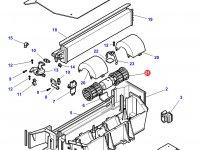 Вентилятор печки отопителя кондиционера кабины трактора Challenger — 3907297M91
