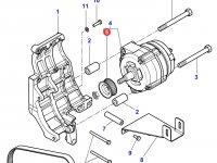 Шкив (ролик) ремня генератора двигателя трактора Massey Ferguson — 3907769M91