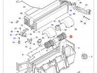 Вентилятор печки отопителя кондиционера кабины трактора Challenger — 3909575M91