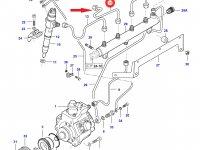 Топливная трубка второго цилиндра двигателя Sisu Diesel — 837070300