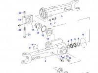 Передний суппорт переднего моста трактора — 31059500