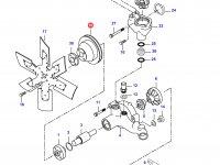 Шкив водяного насоса двигателя Sisu Diesel — 836436209