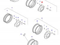 Вставка переднего колесного диска трактора — 31753130