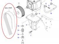 Ремень воздушного компрессора Valtra — 685122020