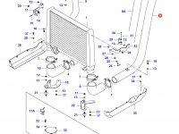 Патрубок интеркулера двигателя Sisu Diesel — 34419600