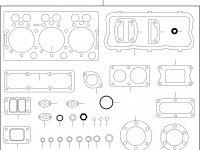 Комплект прокладок двигателя Sisu Diesel — 836840993