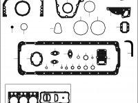 Комплект прокладок двигателя Sisu Diesel — 836840238