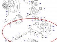 Водяной насос охлаждения двигателя Sisu Diesel — 836864478