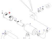 Воздушный фильтр двигателя Sisu Diesel (большой) — 20228654