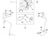 Прокладка турбокомпрессора двигателя Perkins трактора Massey Ferguson — 4222247M1