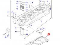 Прокладка ГБЦ двигателя Perkins трактора Massey Ferguson — 4226237M1