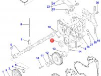 Передний сальник коленвала двигателя Perkins трактора Massey Ferguson — 4226270M1