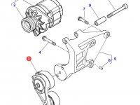 Натяжитель приводного ремня двигателя Perkins трактора Massey Ferguson — 4226287M91