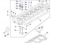 Болт головки блока цилиндров двигателя Perkins трактора Massey Ferguson — 4226324M1