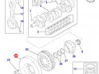 Демпфер шкива коленвала двигателя Perkins трактора Massey Ferguson — 4226343M1