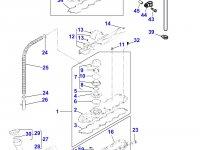Прокладка клапанной крышки двигателя Perkins трактора Massey Ferguson — 4226376M1