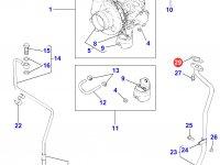 Прокладка турбокомпрессора двигателя Perkins трактора Massey Ferguson — 4226384M1