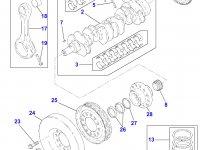 Комплект шатунов двигателя Perkins трактора Massey Ferguson — 4226406M91