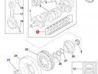 Вкладыши коренные двигателя Perkins трактора Massey Ferguson — 4226442M91