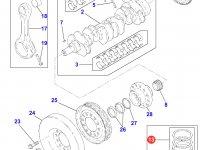 Комплект поршневых колец двигателя Perkins трактора Massey Ferguson — 4226454M91