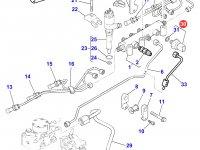 Датчик давления топлива в рампе двигателя Perkins трактора Massey Ferguson — 4226583M1