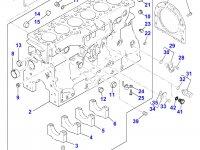 Блок двигателя Perkins трактора Massey Ferguson — 4226630M91