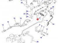 Топливная рампа двигателя Perkins трактора Massey Ferguson — 4226704M1
