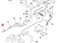 Топливная трубка первого цилиндра двигателя Perkins трактора Massey Ferguson — 4226831M1