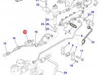 Топливная трубка третьего цилиндра двигателя Perkins трактора Massey Ferguson — 4226832M1