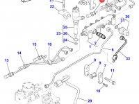 Топливная трубка четвертого цилиндра двигателя Perkins трактора Massey Ferguson — 4226839M1