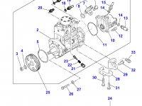 Топливный насос высокого давления (ТНВД) двигателя Perkins трактора Massey Ferguson — 4226841M91
