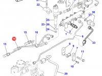 Топливная трубка второго цилиндра двигателя Perkins трактора Massey Ferguson — 4226854M1