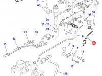 Топливная трубка двигателя Perkins трактора Massey Ferguson — 4227043M1