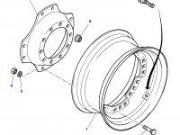 """Вставка переднего колесного диска трактора Massey Ferguson (38"""") — 4271724M1"""
