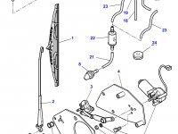 Моторчик щетки стеклоочистителя переднего стекла трактора Challenger — 4275055M1