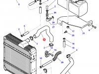Патрубок охлаждения двигателя трактора Challenger — 4278281M1