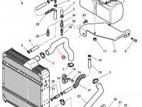 Патрубок охлаждения двигателя трактора Challenger — 4278292M1
