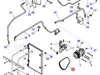 Ремень компрессора кондиционера двигателя Perkins трактора Massey Ferguson — 4281051M2