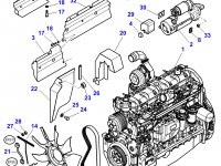Крыльчатка (вентилятор) радиатора двигателя трактора Massey Ferguson — 4281537M1