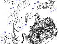 Вискомуфта вентилятора радиатора двигателя трактора Massey Ferguson — 4281538M1