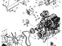 Вискомуфта вентилятора трактор Challenger — 4281538M1