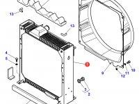 Радиатор двигателя трактора Massey Ferguson — 4281709M4