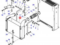 Интеркулер двигателя Perkins трактора Massey Ferguson — 4281710M2