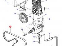 Ремень воздушного компрессора трактора Challenger — 4281725M1