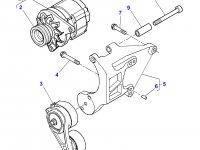 Генератор двигателя трактора Massey Ferguson — 4281879M93