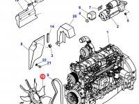 Крыльчатка (вентилятор) радиатора двигателя трактора Massey Ferguson — 4282823M1