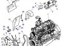 Вискомуфта вентилятора радиатора двигателя трактора Massey Ferguson — 4282824M1