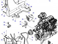Вискомуфта вентилятора трактор Challenger — 4282824M1