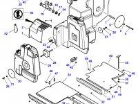 Дополнительный топливный бак трактора Challenger (№40) — 4284237M93